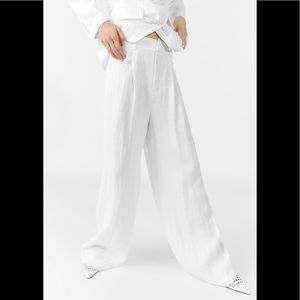 ZARA Wide Leg Linen Pants sz XL